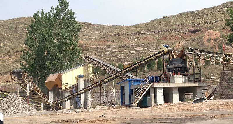 300tph cone crusher rock crushing plant