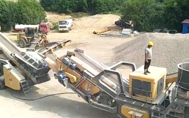 80-100tph mobile crushing plant