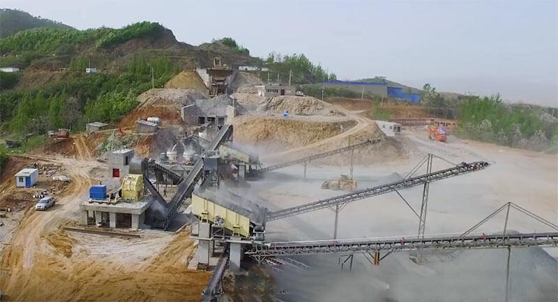 800tph basalt crushing plant