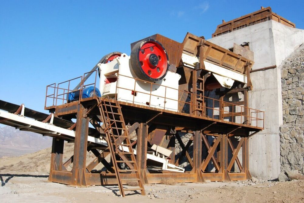 jaw crusher on site