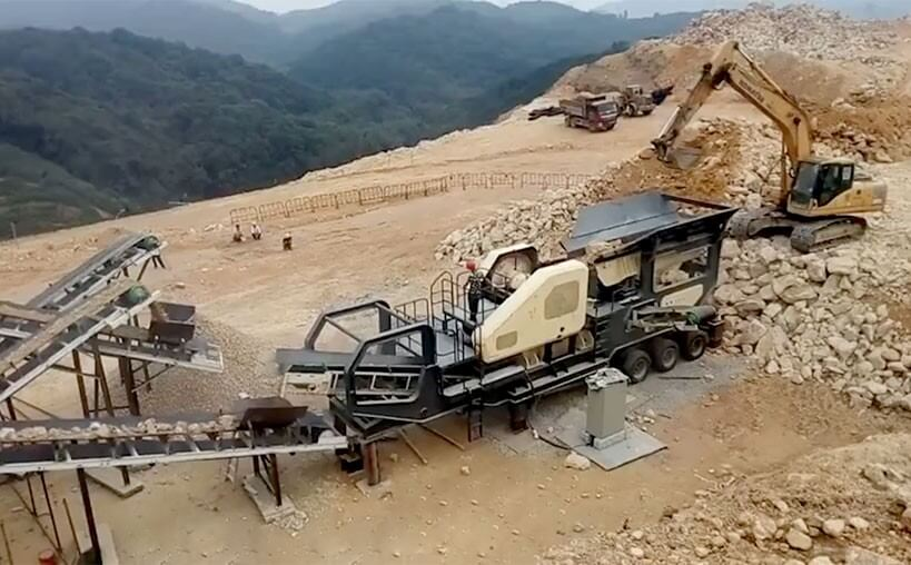 limestone mobile crusher
