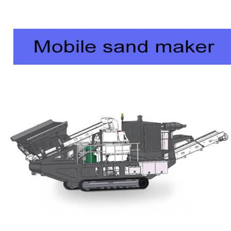 mobile crawler sand maker