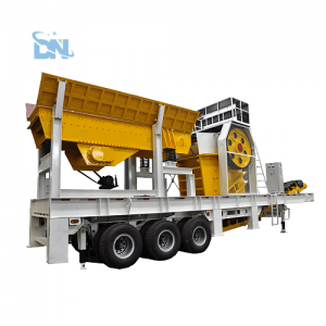 mobile jaw crusher with vibrating screen