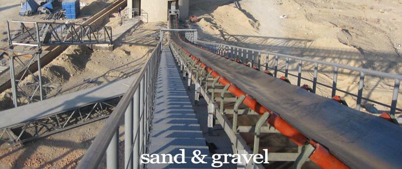 sand gravel conveyor belt